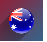 Australian Flag Icon With Background