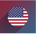 United States Flag Icon With Background