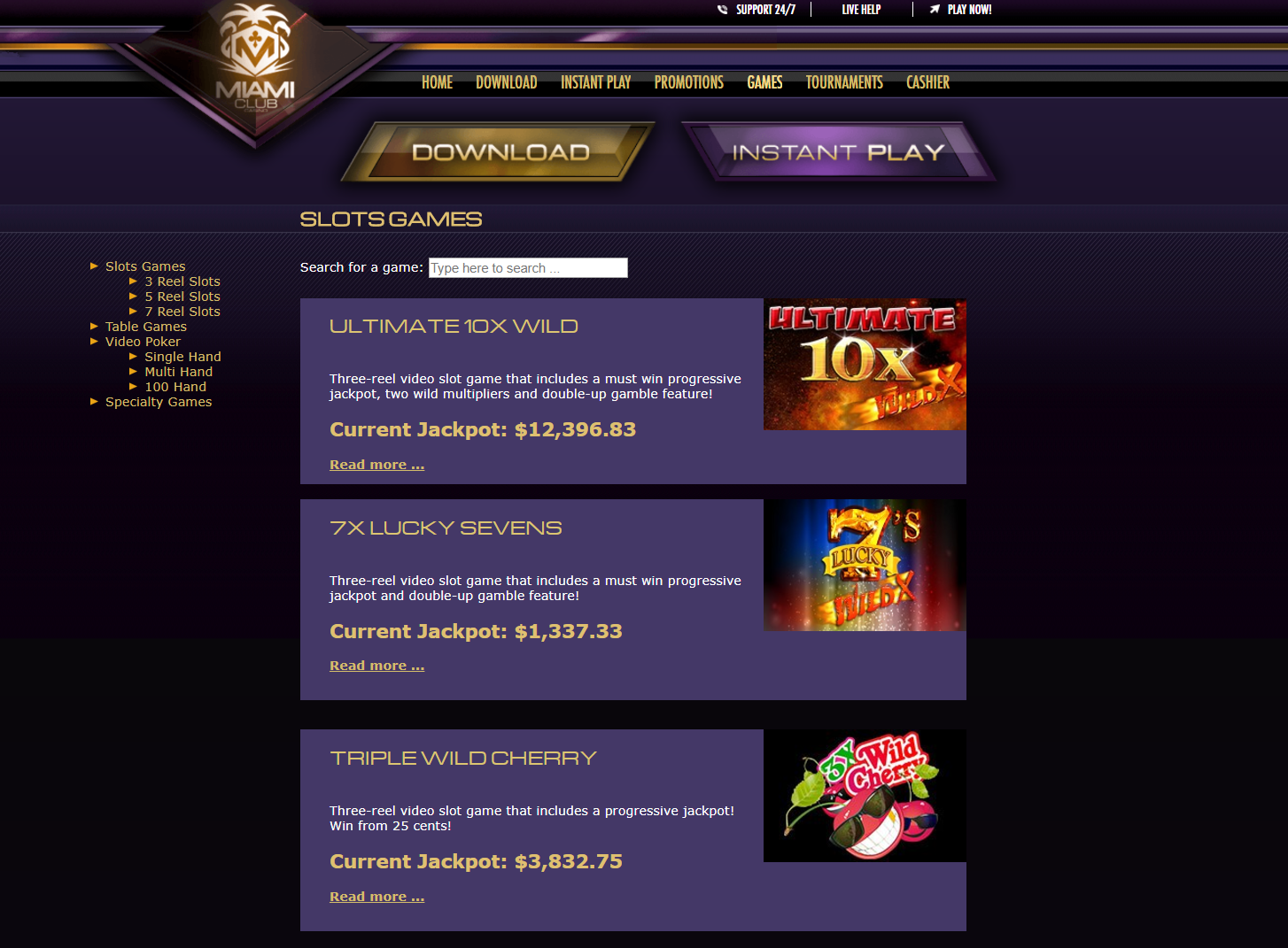miami club casino address