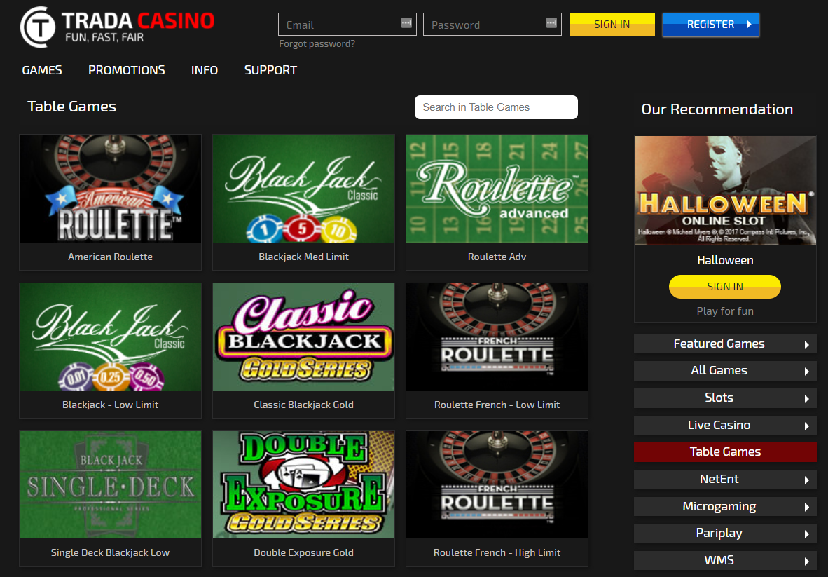 Trada Casino Reviews