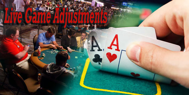 Live Game Adjustments Poker Cards